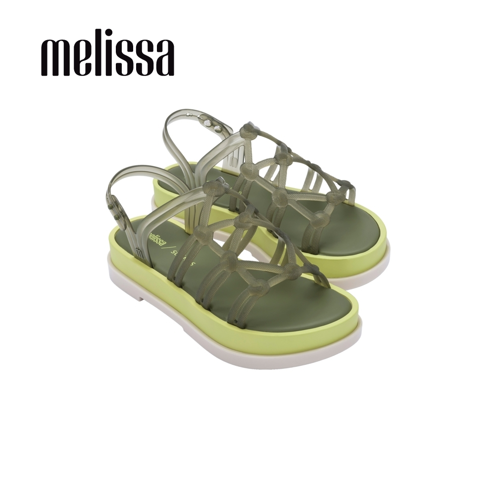 Melissa x Salinas聯名 波西米亞風厚底涼鞋-綠