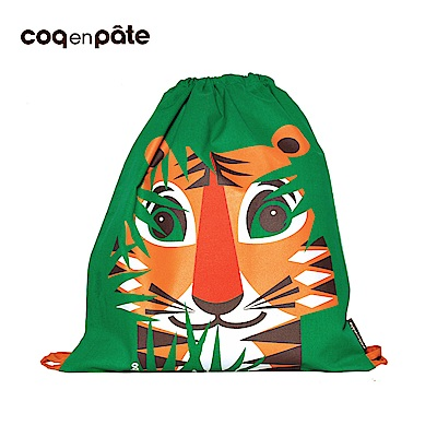 【COQENPATE】法國有機棉無毒環保布包 - 童趣輕鬆包- 老虎
