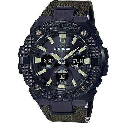 G-SHOCK 帥氣軍風太陽能腕錶(GST-S130BC-1A3) 52.4mm