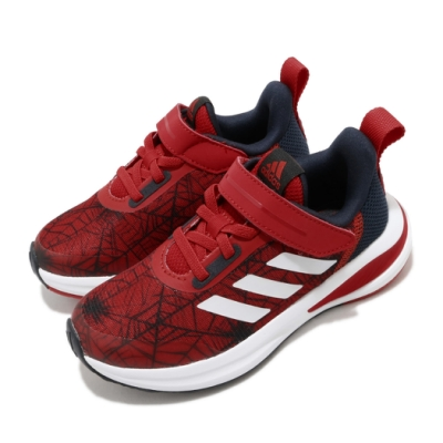 adidas 慢跑鞋 FortaRun Spiderman 童鞋 愛迪達 蜘蛛人 聯名 運動 魔鬼氈 中童 紅 藍 FV4192
