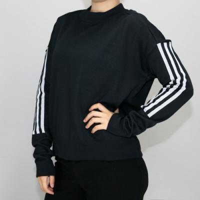 ADIDAS W ID KNT SWEAT女圓領套頭衫-DI0221 黑