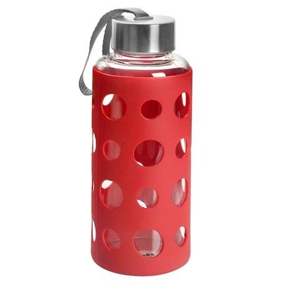 《IBILI》Lake矽膠套玻璃水壺(紅400ml)