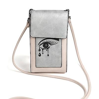 iSPurple 女神之淚 硬式皮革卡片手機側背包 粉