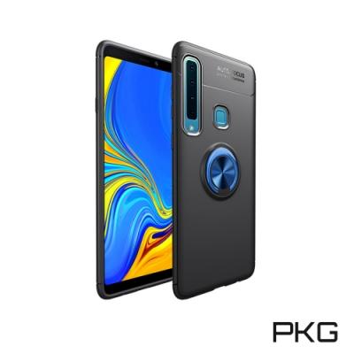 PKG Nokia 8.<b>1</b>抗震防摔手機殼-<b>2</b>合1內軟外硬-隱藏指支架-時尚黑