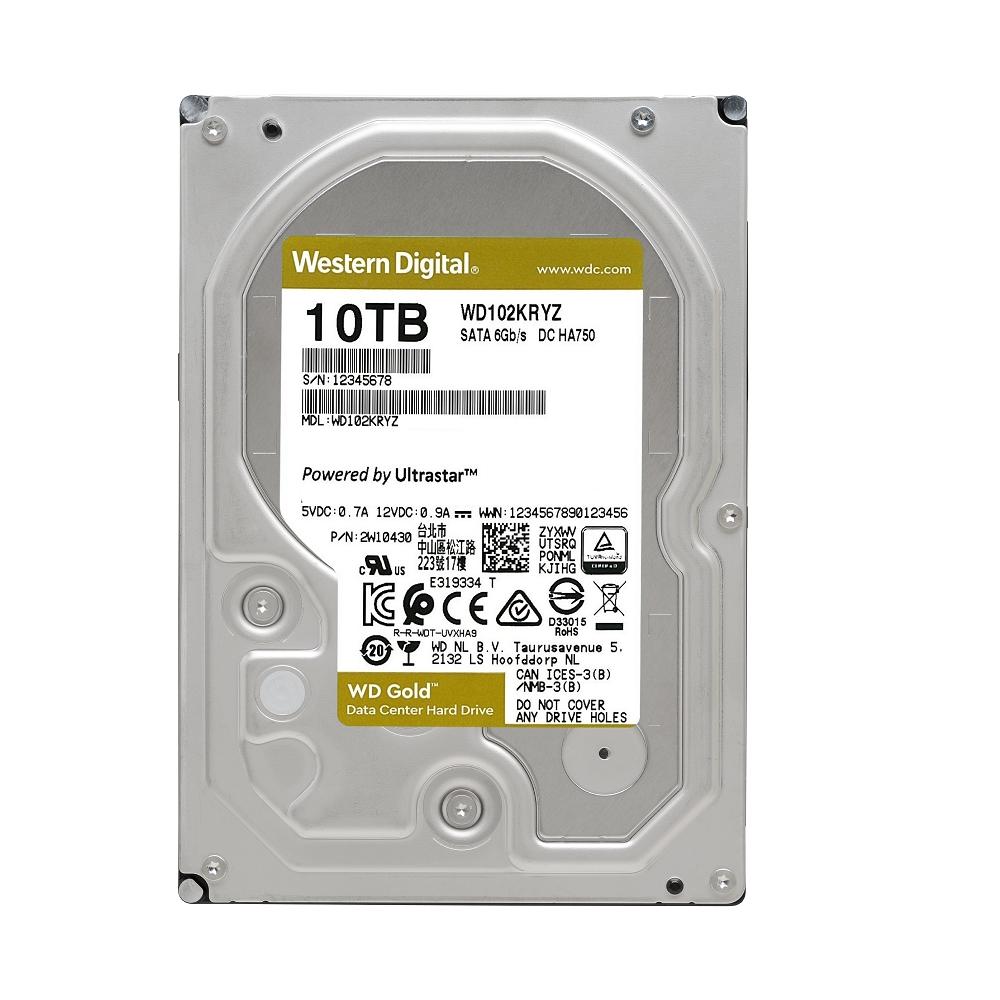 WD 金標 10TB 3.5吋企業級硬碟 WD102KRYZ