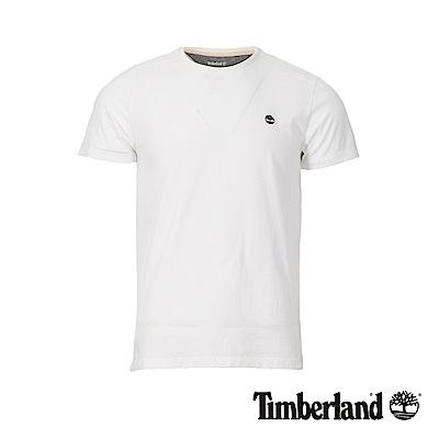 Timberland 男款白色圓領修身短袖T恤|A1MH6