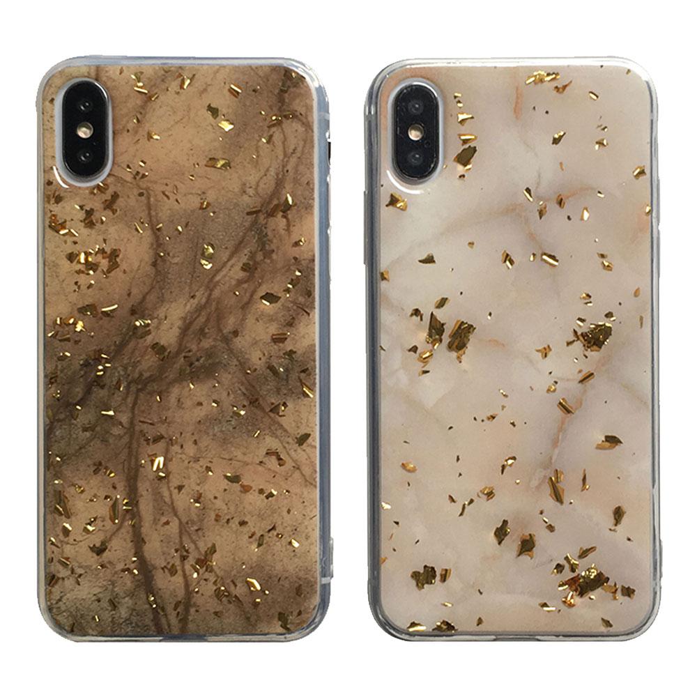 【TOYSELECT】iPhone Xs Max 金箔大理石質感手機殼