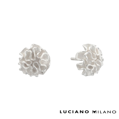 LUCIANO MILANO 洋繡球純銀耳環