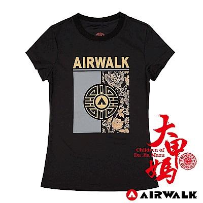 【AIRWALK】大甲媽聯名T恤-花逢富貴(黑)