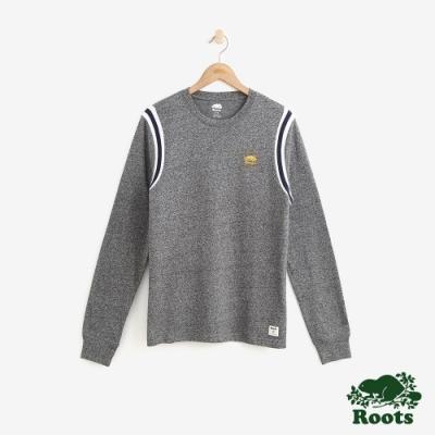 男裝Roots 學院風長袖T恤-灰色