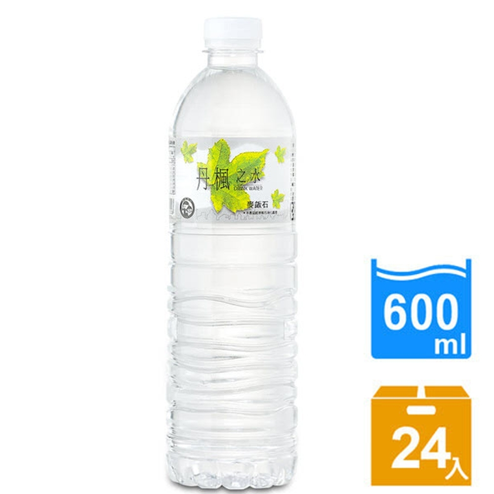 DRINK WATER丹楓之水 麥飯石礦泉水600ml(24瓶/箱) product image 1