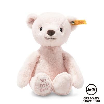 STEIFF德國金耳釦泰迪熊  My first Steiff Teddy Bear  粉色小熊熊 (嬰幼兒玩偶)