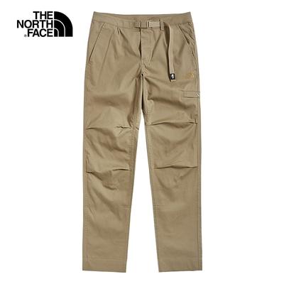 The North Face北面男款卡其色防潑水可調節腰帶休閒褲|49C8PLX