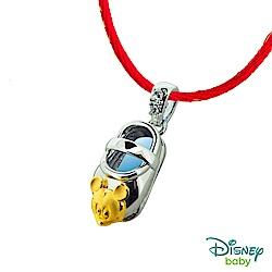 Disney迪士尼系列金飾 黃金/白鋼墜子-童鞋米奇款 送項鍊