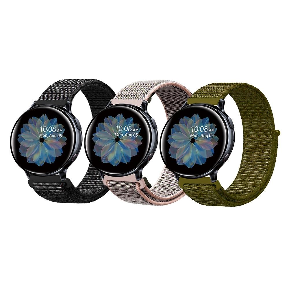 Samsung Galaxy Watch 40/42/44mm通用 尼龍織紋回環錶帶