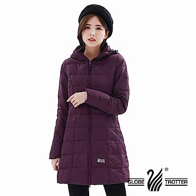 【遊遍天下】女款長版顯瘦防風防潑禦寒羽絨外套22020紫色
