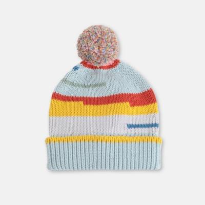 Stella McCartney 絨球條紋針織帽