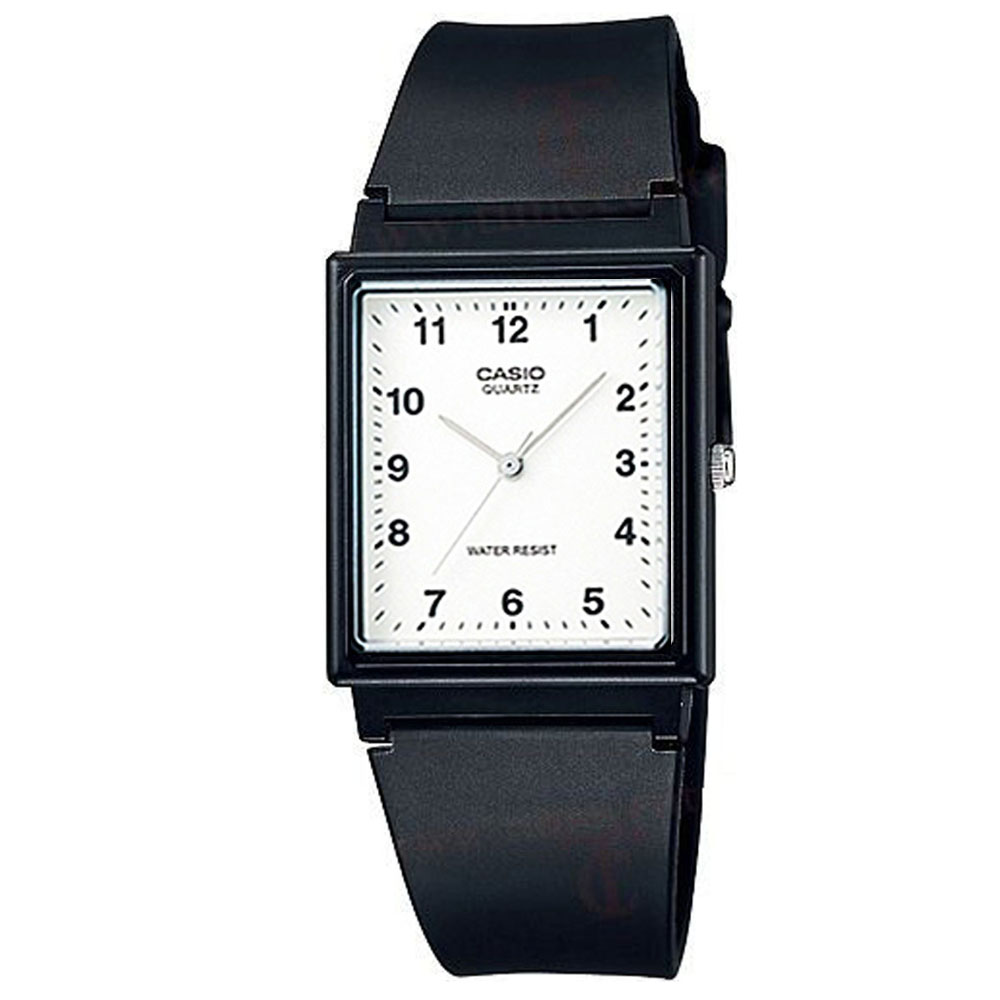 【CASIO 】方形超輕薄感數字錶(白面)