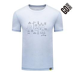 【GOHIKING】男空氣感吸排露營圖騰T恤