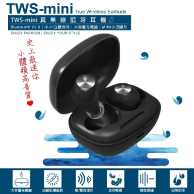 TWS-mini 迷你真無線藍牙耳機 /藍牙5.0(NCC認證通過)