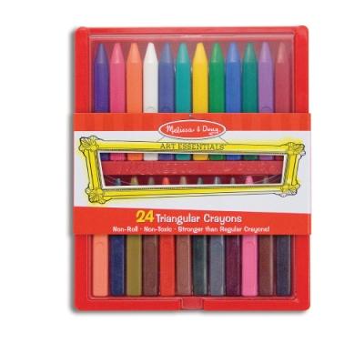美國瑪莉莎 Melissa & Doug 24 色無毒三角形蠟筆