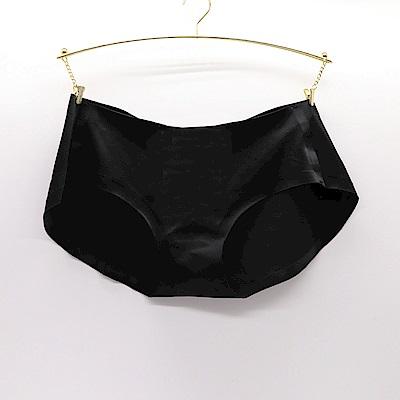 莎露-輕塑 M-L 低腰三角褲(黑)舒適貼臀-無車縫