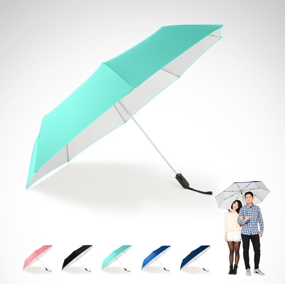 【TDN】省力回壓超撥水銀素自動開收傘 超大抗UV自動傘B1493S-蒂芬藍