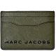 MARC JACOBS 時尚簡約黑色LOGO防刮皮革名片夾/卡夾-軍綠色 product thumbnail 1