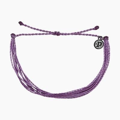 Pura Vida 美國手工 SOLID LIGHT PURPLE 淺紫色 基本款可調式衝浪手環