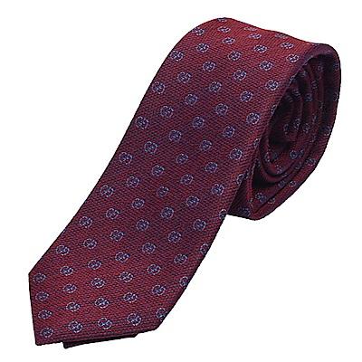 GUCCI 經典GG Guccissima緹花刺繡圖案絲質領帶(紫紅-148X7cm)