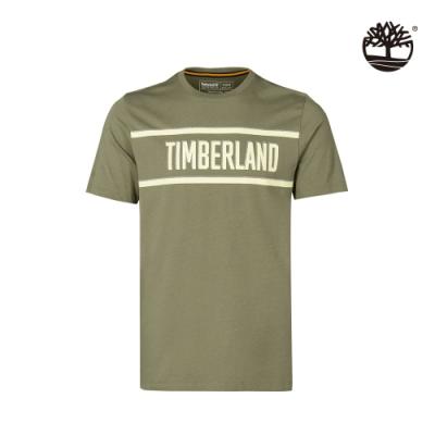 Timberland 男款綠色LOGO有機棉短袖T恤|A2DSV