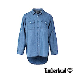 Timberland 女款深藍七分袖牛仔襯衫 B3601