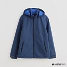 Hang Ten 男裝 ThermoContro-配色機能拉鍊刷毛外套-藍