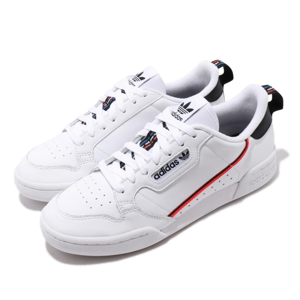 adidas 休閒鞋 Continental 80 復古 男鞋 愛迪達 三葉草 皮革 基本款 球鞋穿搭 白 黑 FW5815