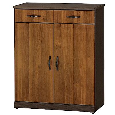 綠活居 德比瑞時尚2.7尺雙色二門鞋櫃/玄關櫃-80x37x100cm-免組