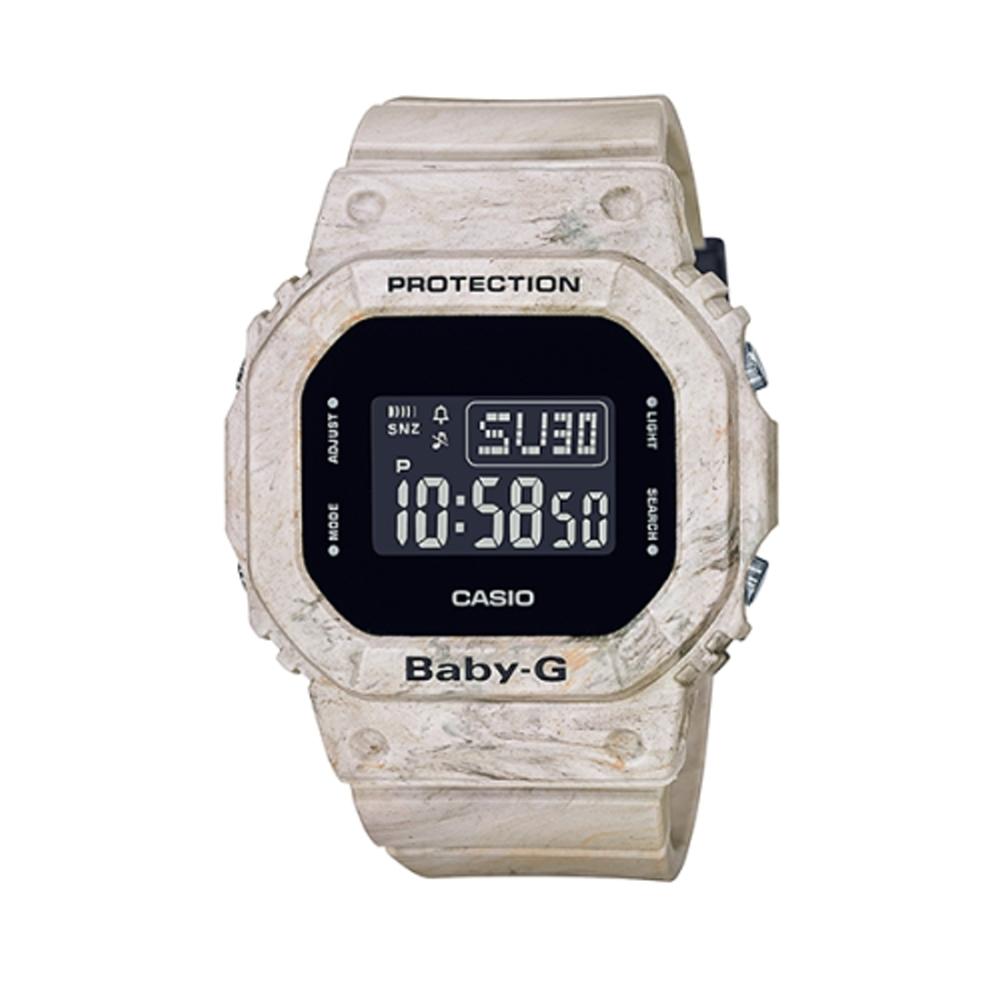 【CASIO 卡西歐】Baby-G 地質系大理石紋手錶/BGD-560WM-5