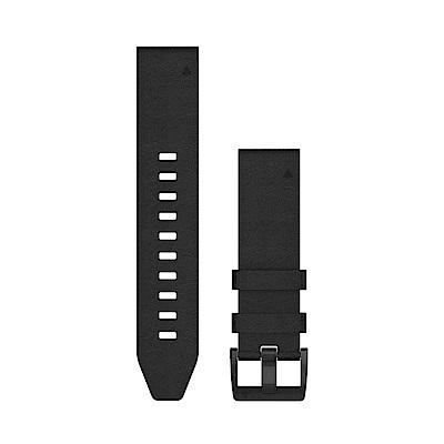 GARMIN QuickFit 22mm 黑色皮革錶帶