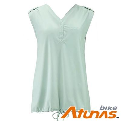 【Atunas 歐都納 Bike】女輕柔素羽無袖T恤B14003WZ2粉綠