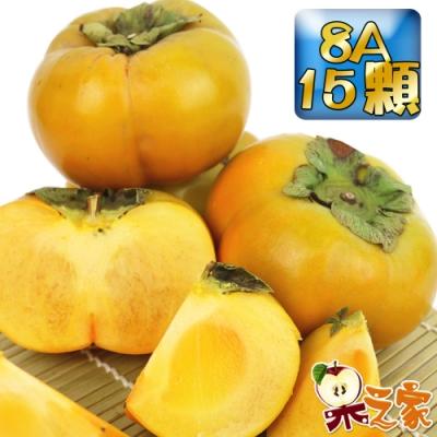 果之家 產地嚴選新社香濃多汁8A甜柿15粒禮盒(單顆7-8兩,約7台斤)