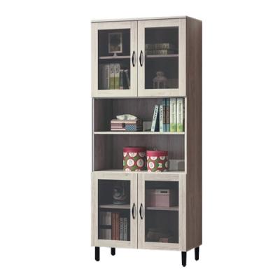 綠活居 澳利亞  現代2.7尺四門書櫃/收納櫃-80x40x196cm免組
