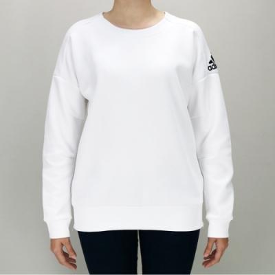 ADIDAS W ID STADIUM SW 女 白 圓領套頭衫