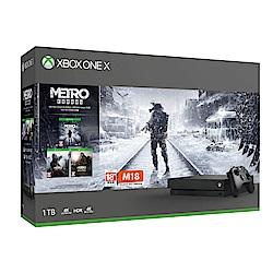 Xbox One X 1TB 《戰慄深隧:流亡》Metro Saga同捆組