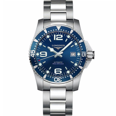 LONGINES 浪琴 深海征服者潛水機械錶(L38414966)-藍/44mm