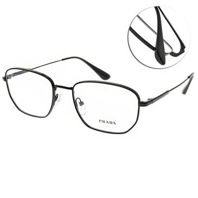PRADA光學眼鏡 方框款/黑 #VPR52WV 1AB-1O1