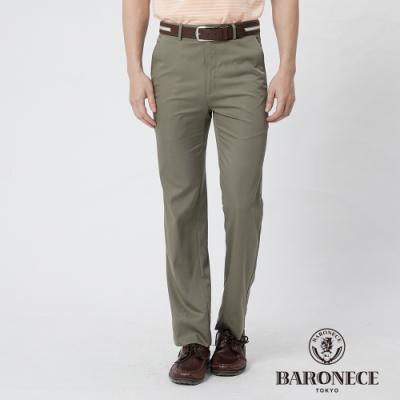 BARONECE 百諾禮士休閒商務  男裝 彈性天絲平口休閒長褲--橄欖綠色(1188895-47)