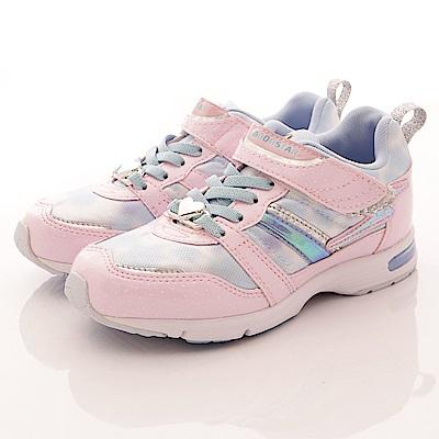 日本月星頂級競速童鞋 2E輕量耐磨運動款 SE734粉紅(中大童段)