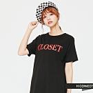 H:CONNECT 韓國品牌 女裝 - 蕾絲拼接印字棉質洋裝- 黑 (快)