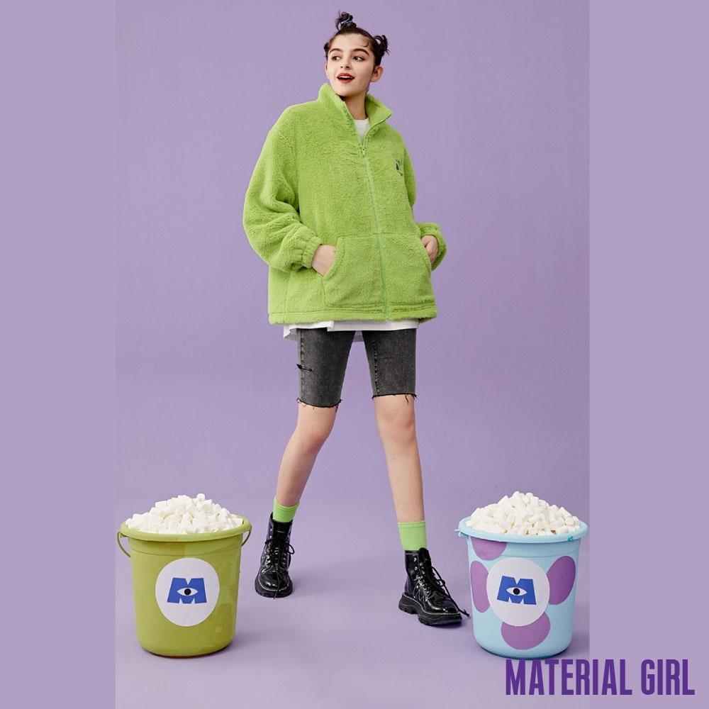 MATERIAL GIRL 怪獸大學刺繡絨毛外套【冬季新品】-A4108
