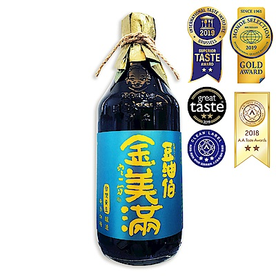 豆油伯 金美滿醬油-無添加糖(500ml)