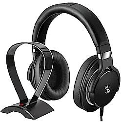 A4雙飛燕 Bloody M550 魔磁雙震膜高音質音樂耳機 (黑灰)